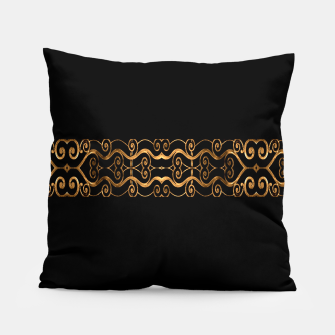 Miniaturka Luxury Ornate Minimal Style Dark Print Pillow, Live Heroes
