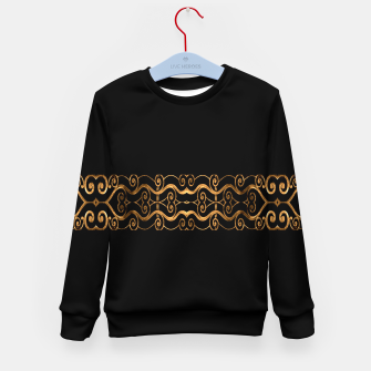 Imagen en miniatura de Luxury Ornate Minimal Style Dark Print Kid's sweater, Live Heroes
