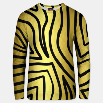 Thumbnail image of Black And Gold Zebra Stripes Unisex sweater, Live Heroes