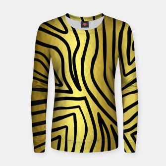Thumbnail image of Black And Gold Zebra Stripes Women sweater, Live Heroes