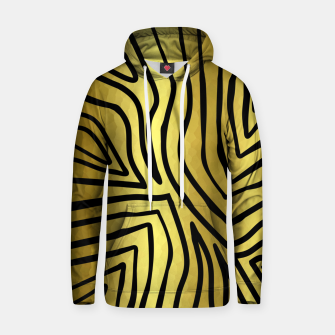 Thumbnail image of Black And Gold Zebra Stripes Hoodie, Live Heroes