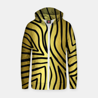 Thumbnail image of Black And Gold Zebra Stripes Zip up hoodie, Live Heroes