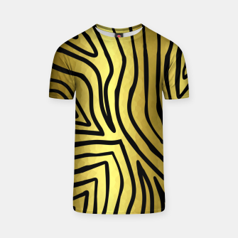 Thumbnail image of Black And Gold Zebra Stripes T-shirt, Live Heroes