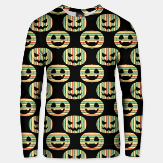 Thumbnail image of Pumpkin Face Happy Halloween Gifts Retro Style Pattern Unisex sweater, Live Heroes