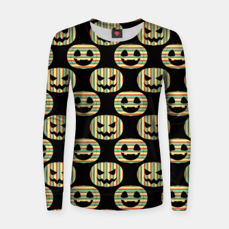 Thumbnail image of Pumpkin Face Happy Halloween Gifts Retro Style Pattern Women sweater, Live Heroes