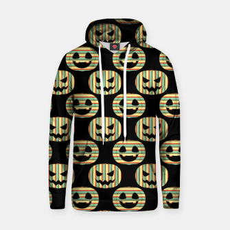 Thumbnail image of Pumpkin Face Happy Halloween Gifts Retro Style Pattern Hoodie, Live Heroes