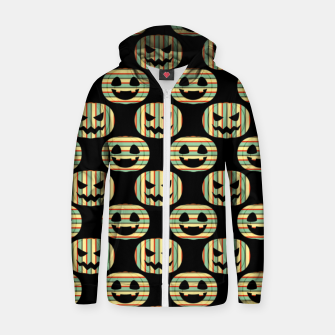 Thumbnail image of Pumpkin Face Happy Halloween Gifts Retro Style Pattern Zip up hoodie, Live Heroes