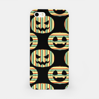 Thumbnail image of Pumpkin Face Happy Halloween Gifts Retro Style Pattern iPhone Case, Live Heroes
