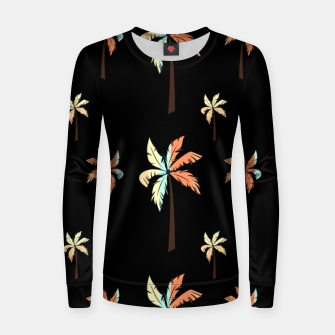 Thumbnail image of Vintage Coconut Palm Tree Sunset Tropical Beach Paradise Women sweater, Live Heroes