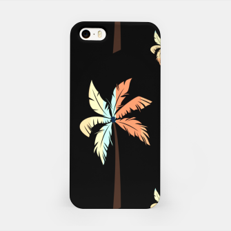 Thumbnail image of Vintage Coconut Palm Tree Sunset Tropical Beach Paradise iPhone Case, Live Heroes