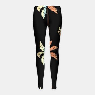 Thumbnail image of Vintage Coconut Palm Tree Sunset Tropical Beach Paradise Girl's leggings, Live Heroes