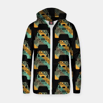Thumbnail image of Off Road Retro Style 4x4 Vehicle Car Lover Offroad Dirt Zip up hoodie, Live Heroes