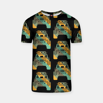 Thumbnail image of Off Road Retro Style 4x4 Vehicle Car Lover Offroad Dirt T-shirt, Live Heroes