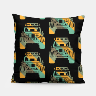 Thumbnail image of Off Road Retro Style 4x4 Vehicle Car Lover Offroad Dirt Pillow, Live Heroes