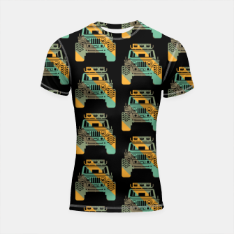 Thumbnail image of Off Road Retro Style 4x4 Vehicle Car Lover Offroad Dirt Shortsleeve rashguard, Live Heroes