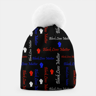 Thumbnail image of Black Lives Matter American Flag Colors BLM Movement Beanie, Live Heroes