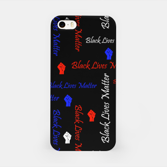 Thumbnail image of Black Lives Matter American Flag Colors BLM Movement iPhone Case, Live Heroes