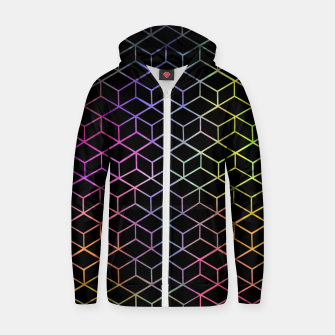 Thumbnail image of Colorful Cubes Zip up hoodie, Live Heroes