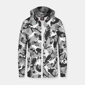 Thumbnail image of Basketball Camo URBAN WINTER Zip up hoodie, Live Heroes