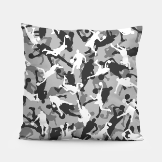 Thumbnail image of Basketball Camo URBAN WINTER Pillow, Live Heroes