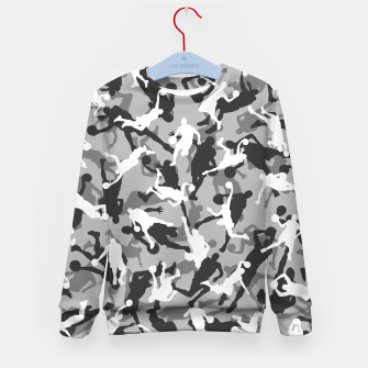 Thumbnail image of Basketball Camo URBAN WINTER Kid's sweater, Live Heroes