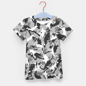 Thumbnail image of Basketball Camo URBAN WINTER Kid's t-shirt, Live Heroes