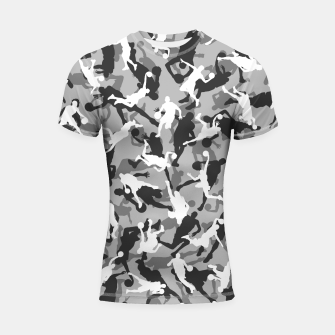 Thumbnail image of Basketball Camo URBAN WINTER Shortsleeve rashguard, Live Heroes