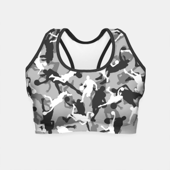 Thumbnail image of Basketball Camo URBAN WINTER Crop Top, Live Heroes
