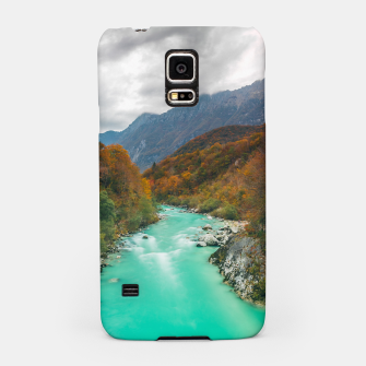 Thumbnail image of Magical river Soča cloudy autumn day Slovenia Samsung Case, Live Heroes