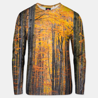 Thumbnail image of Stunning gold autumn forest Unisex sweater, Live Heroes