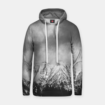 Miniatur Black and white mountains in clouds Hoodie, Live Heroes