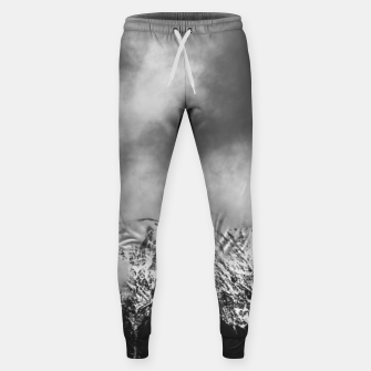 Thumbnail image of Black and white mountains in clouds Sweatpants, Live Heroes