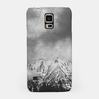 Thumbnail image of Black and white mountains in clouds Samsung Case, Live Heroes