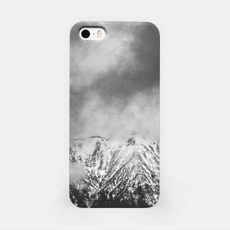 Thumbnail image of Black and white mountains in clouds iPhone Case, Live Heroes