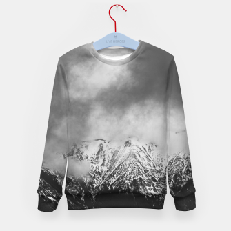 Imagen en miniatura de Black and white mountains in clouds Kid's sweater, Live Heroes