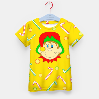 Thumbnail image of Christmas Elf Kid's t-shirt, Live Heroes