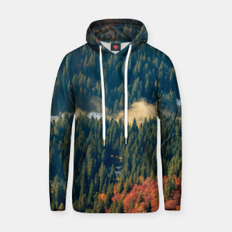 Miniatur Fog rolling on a lonely autumn field Hoodie, Live Heroes