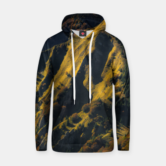 Thumbnail image of Grass covered mountain in autumn Hoodie, Live Heroes