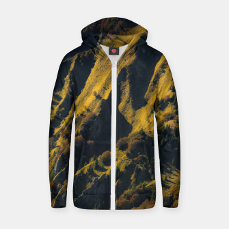 Thumbnail image of Grass covered mountain in autumn Zip up hoodie, Live Heroes