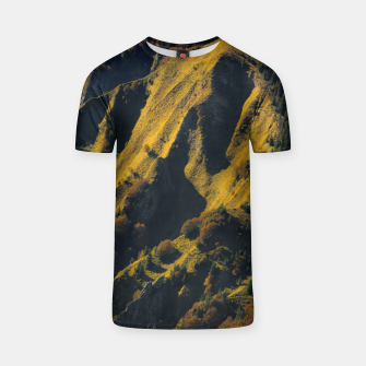 Thumbnail image of Grass covered mountain in autumn T-shirt, Live Heroes