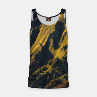 Grass covered mountain in autumn Tank Top thumbnail image
