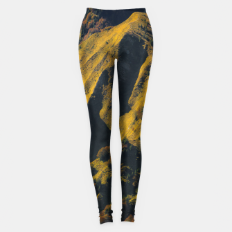 Thumbnail image of Grass covered mountain in autumn Leggings, Live Heroes
