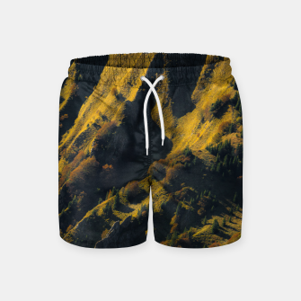 Grass covered mountain in autumn Swim Shorts thumbnail image