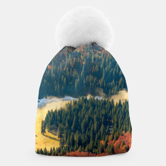Thumbnail image of Fog rolling on a lonely autumn field Beanie, Live Heroes