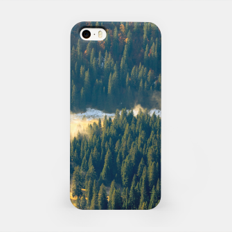 Thumbnail image of Fog rolling on a lonely autumn field iPhone Case, Live Heroes