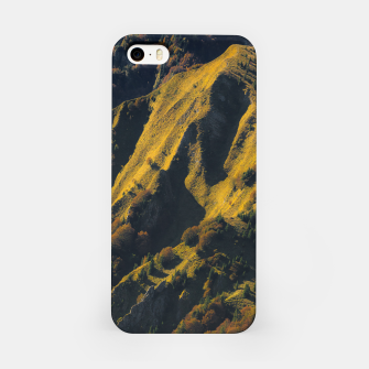 Grass covered mountain in autumn iPhone Case thumbnail image