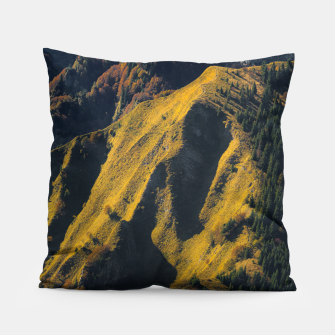 Grass covered mountain in autumn Pillow thumbnail image