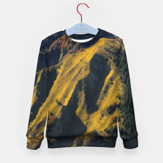 Imagen en miniatura de Grass covered mountain in autumn Kid's sweater, Live Heroes