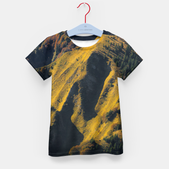 Grass covered mountain in autumn Kid's t-shirt thumbnail image