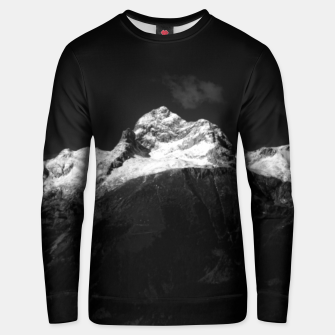 Thumbnail image of Majestic mountain Triglav in black and white Unisex sweater, Live Heroes